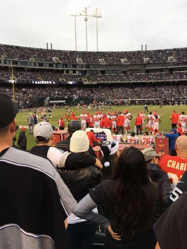 Oakland Coliseum, secção: 143, fila: 4, lugar: 8