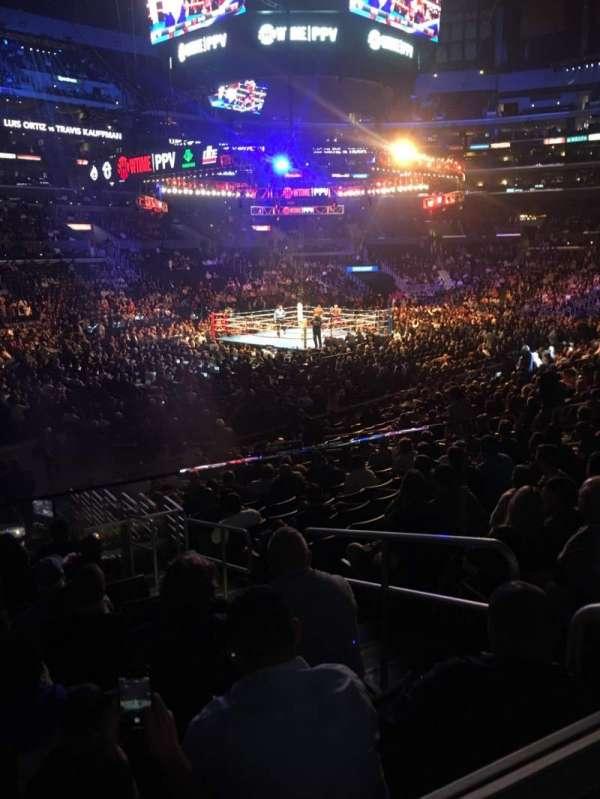Staples Center, secção: 114, fila: 18w, lugar: 2