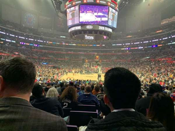 Staples Center, secção: 116, fila: 10, lugar: 6