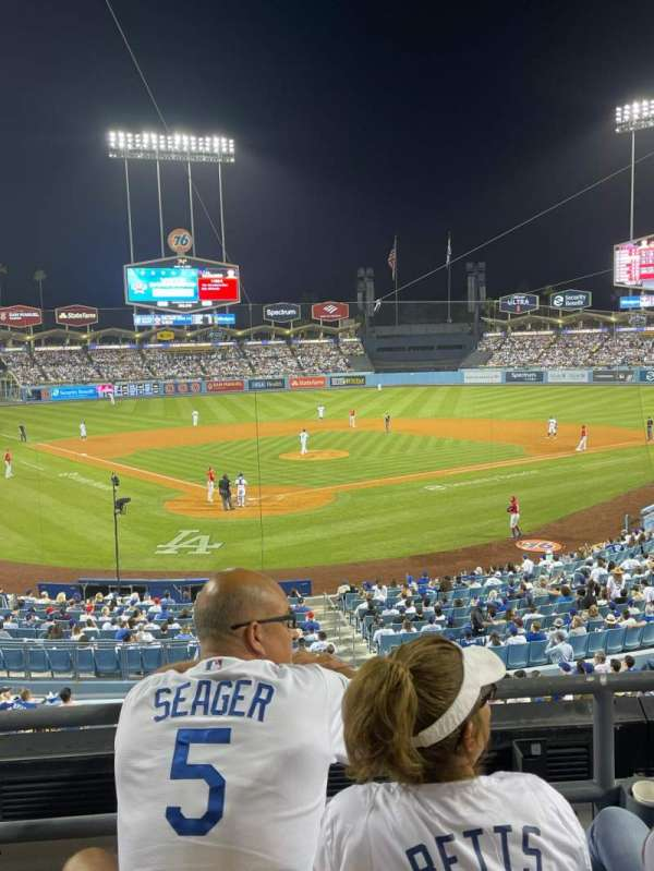 Dodger Stadium, secção: 108LG, fila: C, lugar: 4