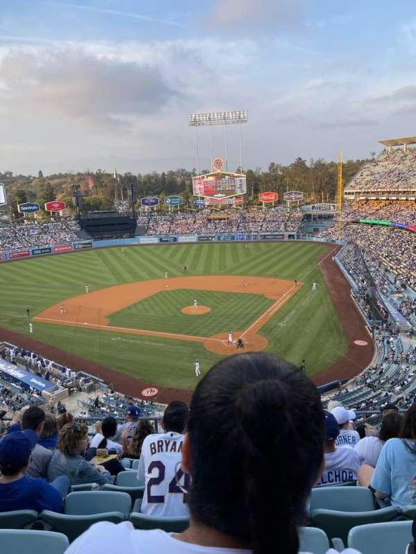 Dodger Stadium, secção: 5RS, fila: H, lugar: 11