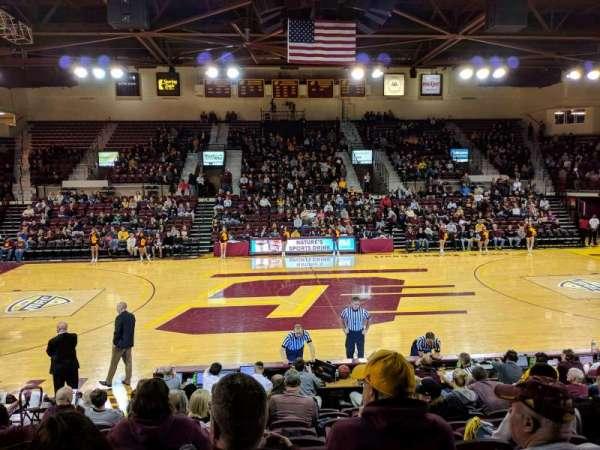 McGuirk Arena, secção: 114, fila: J, lugar: 12