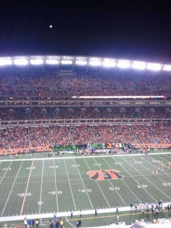 Paul Brown Stadium, secção: 342, fila: 1, lugar: 4