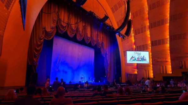 Radio City Music Hall, secção: Orchestra 7, fila: RR, lugar: 701