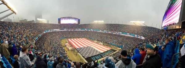Bank of America Stadium, secção: 506, fila: 19, lugar: 5