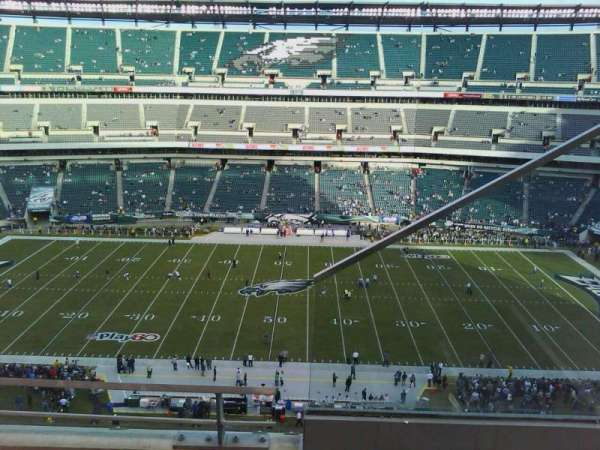 Lincoln Financial Field, secção: 201, fila: 6, lugar: 1