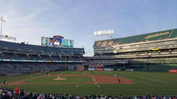 Oakland Coliseum, secção: 112, fila: 22, lugar: 10