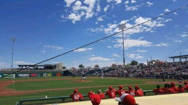 Goodyear Ballpark, secção: 107, fila: G, lugar: 6