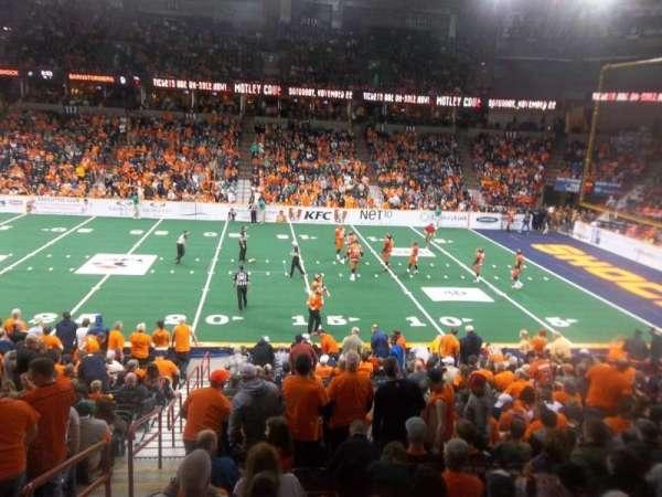 Spokane Arena, secção: 105, fila: J, lugar: 2
