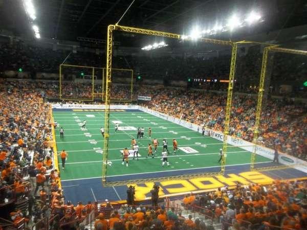 Spokane Arena, secção: 108, fila: T, lugar: 7
