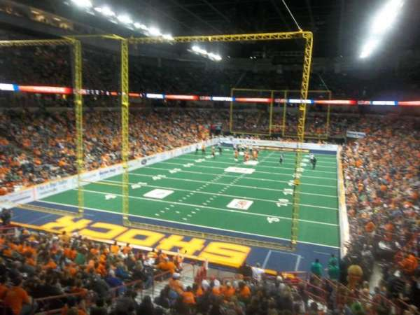 Spokane Arena, secção: 112, fila: S, lugar: 7