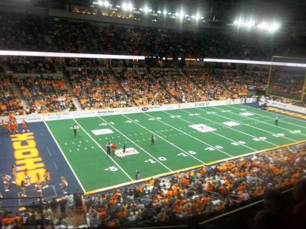 Spokane Arena, secção: 214, fila: M, lugar: 26