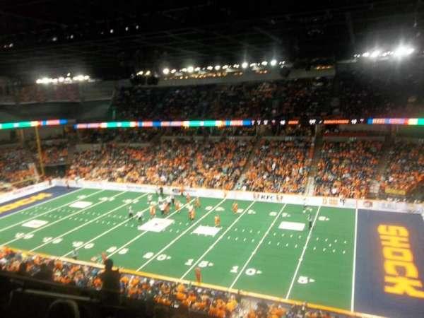Spokane Arena, secção: 219, fila: L, lugar: 23