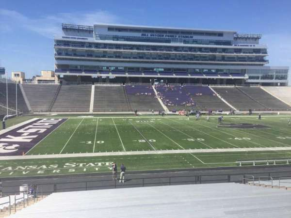 Bill Snyder Family Stadium, secção: 22, fila: 28, lugar: 25