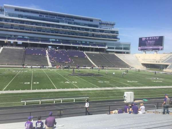 Bill Snyder Family Stadium, secção: 23, fila: 18, lugar: 23