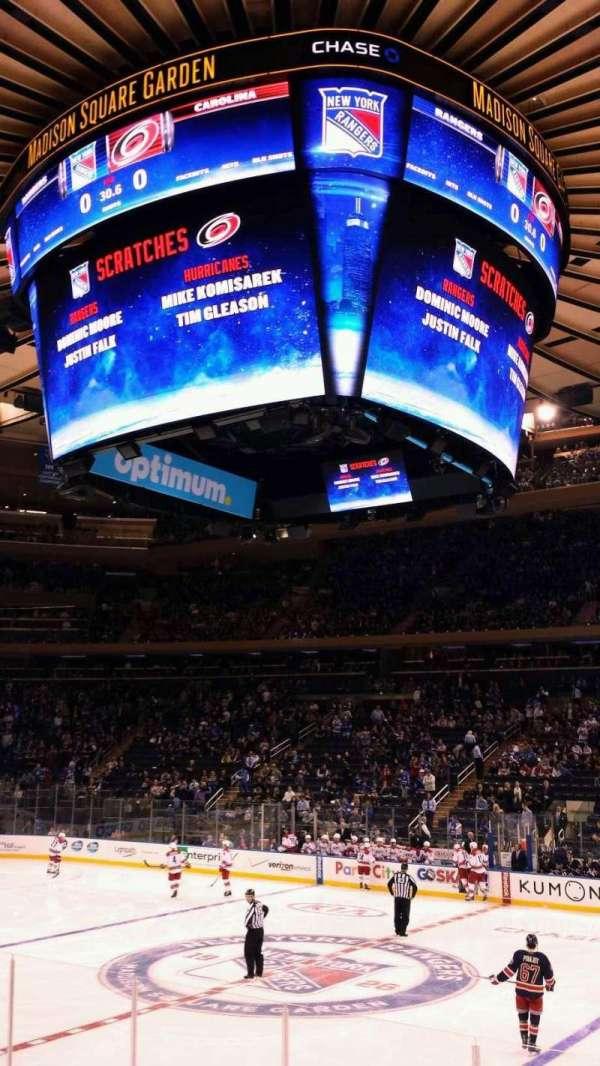 Madison Square Garden, secção: 118, fila: 7, lugar: 17
