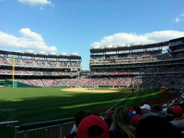 Nationals Park, secção: 108, fila: v, lugar: 18