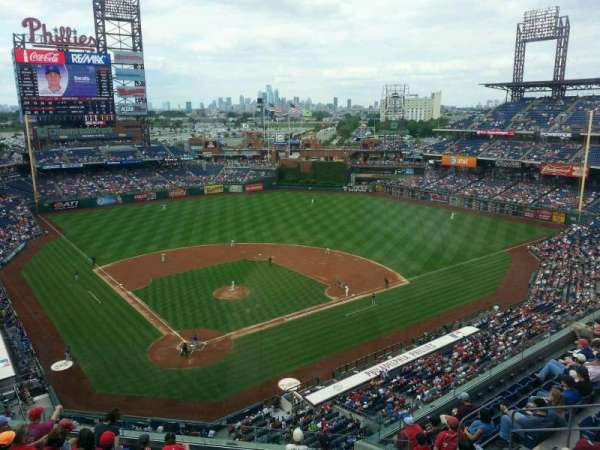 Citizens Bank Park, secção: 419, fila: 1, lugar: 8