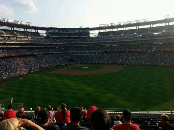 Nationals Park, secção: 242, fila: l, lugar: 15