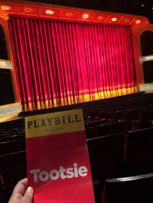Marquis Theatre, secção: Orchestra R, fila: M, lugar: 6