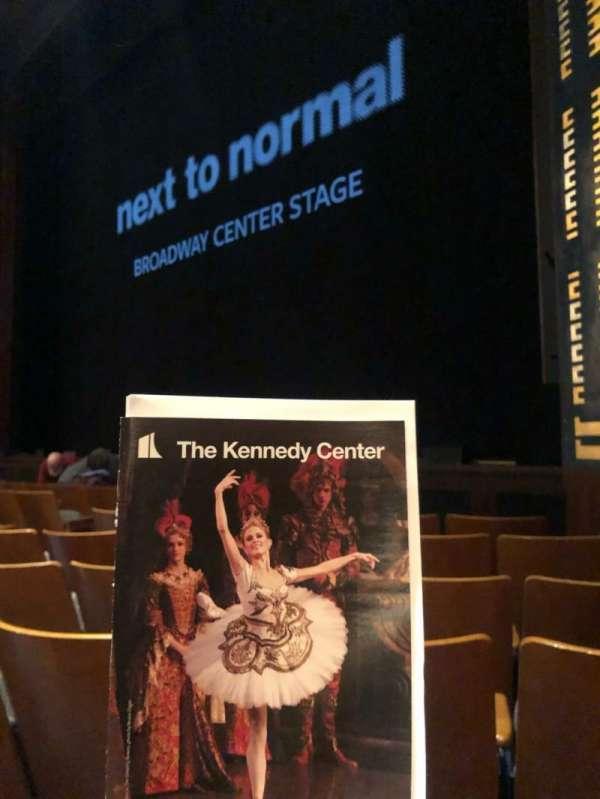 The Kennedy Center Eisenhower Theater, secção: Orchestra, fila: H, lugar: 14