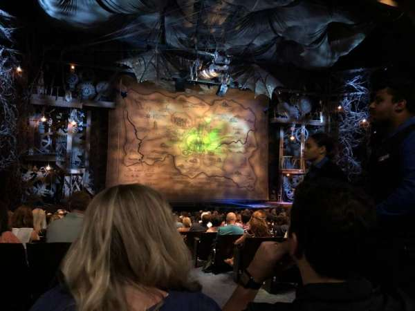 Gershwin Theatre, secção: Orch, fila: R, lugar: 1
