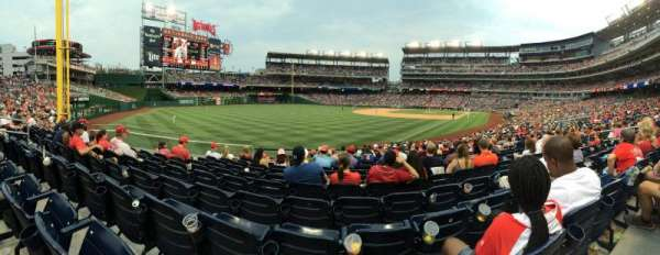 Nationals Park, secção: 108, fila: CC