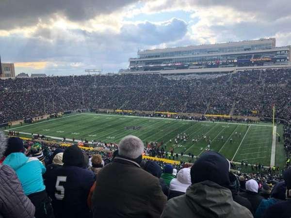 Notre Dame Stadium, secção: 107, fila: 25, lugar: 16