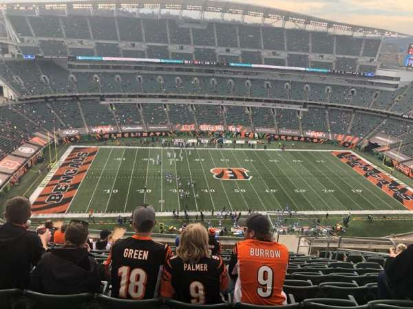 Paul Brown Stadium, secção: 342, fila: 25, lugar: 6
