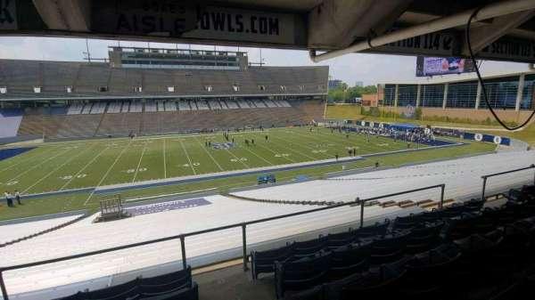 Rice Stadium, secção: 114, fila: 43, lugar: 1