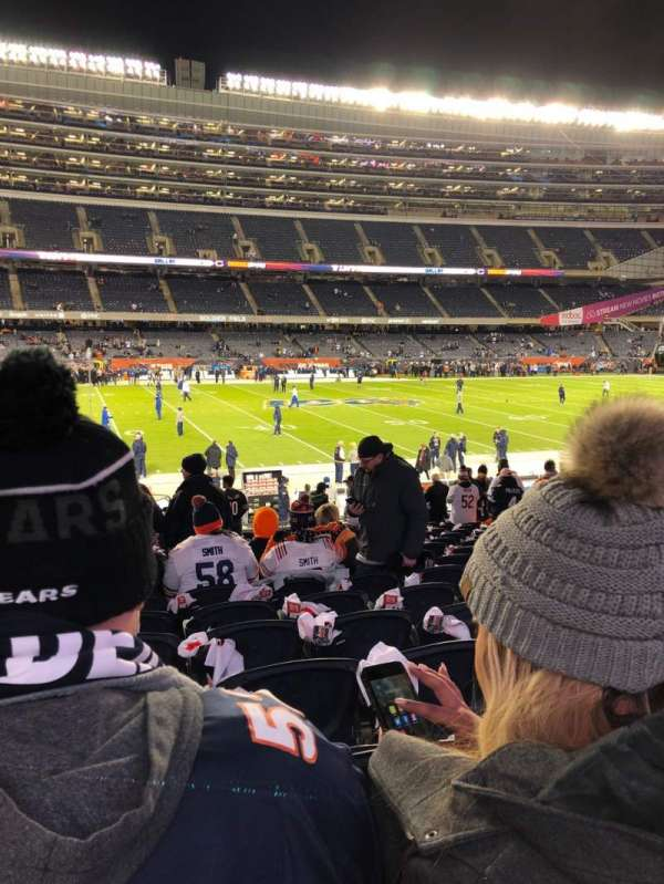 Soldier Field, secção: 140, fila: 18, lugar: 1