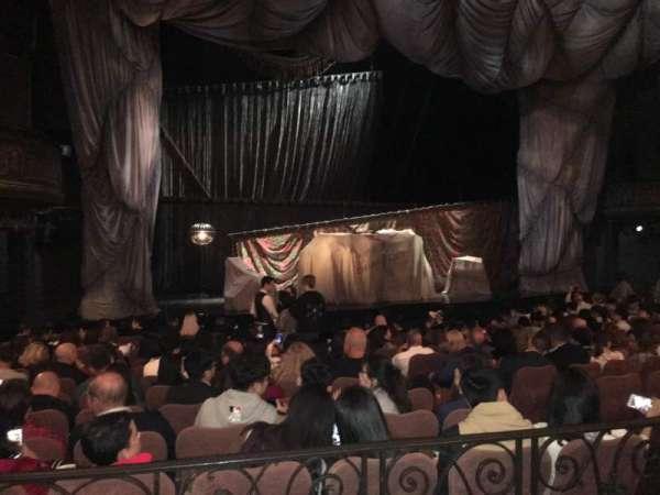 Majestic Theatre, secção: Orchestra Left, fila: K, lugar: 11