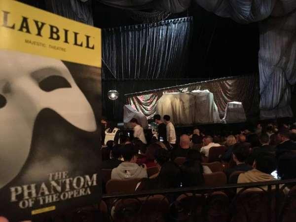Majestic Theatre, secção: Orchestra Left, fila: K, lugar: 13