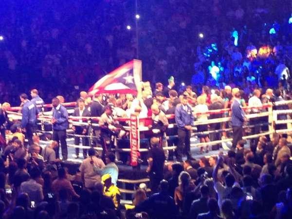 Madison Square Garden, secção: 109, fila: 7