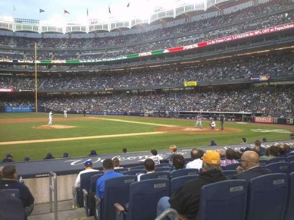 Yankee Stadium, secção: 124, fila: 1