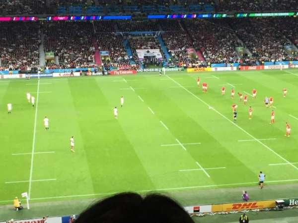 Twickenham Stadium, secção: M35, fila: 67, lugar: 303