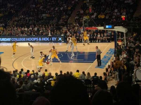Madison Square Garden, secção: 119, fila: 15, lugar: 5