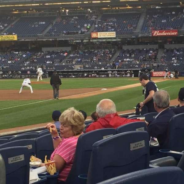 Yankee Stadium, secção: 029, fila: 6, lugar: 2