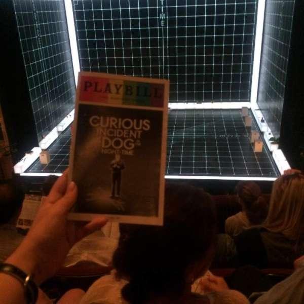 Ethel Barrymore Theatre, secção: Front Mezzanine C, fila: D, lugar: 112
