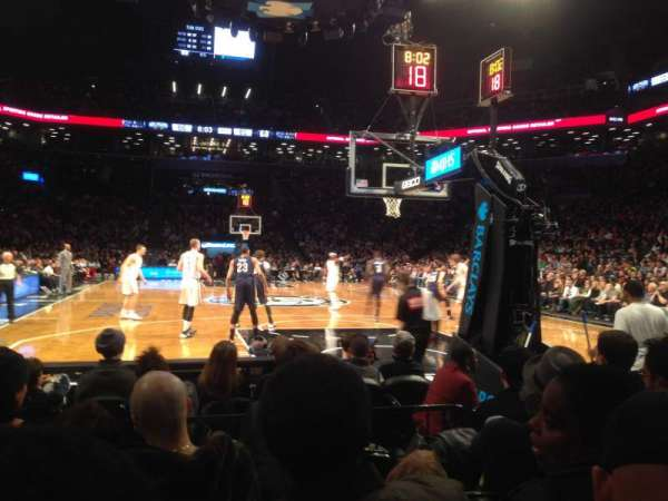 Barclays Center, secção: 1, fila: E, lugar: 8