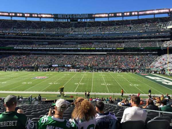 MetLife Stadium, secção: 111c, fila: 25, lugar: 5