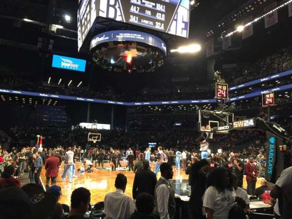 Barclays Center, secção: 19, fila: 1, lugar: 7