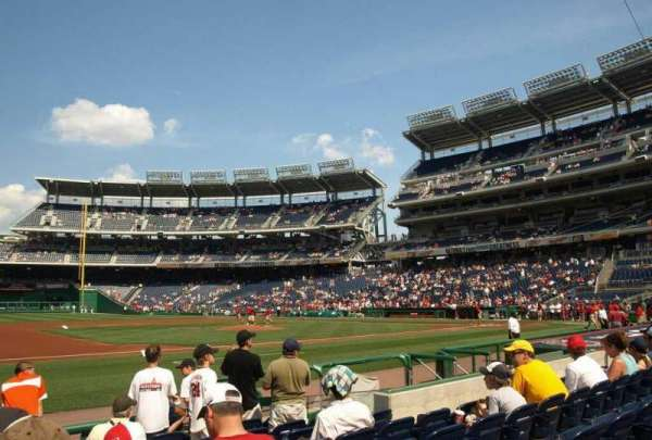 Nationals Park, secção: 115, fila: H, lugar: 13