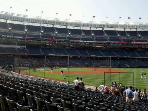 Yankee Stadium, secção: 109, fila: 20, lugar: 18