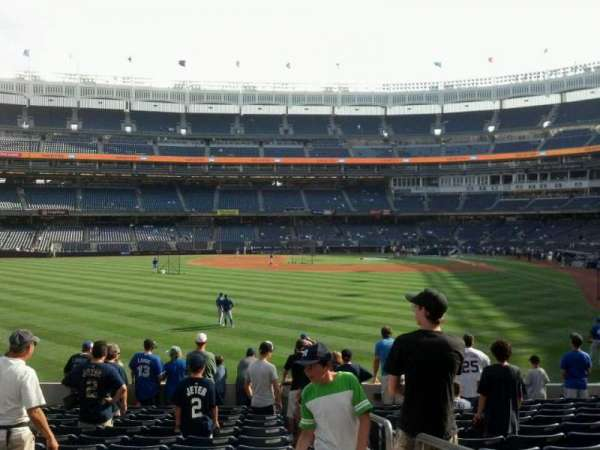 Yankee Stadium, secção: 135, fila: 23, lugar: 1