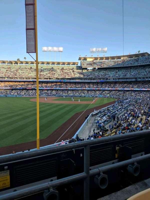 Dodger Stadium, secção: 163LG, fila: b