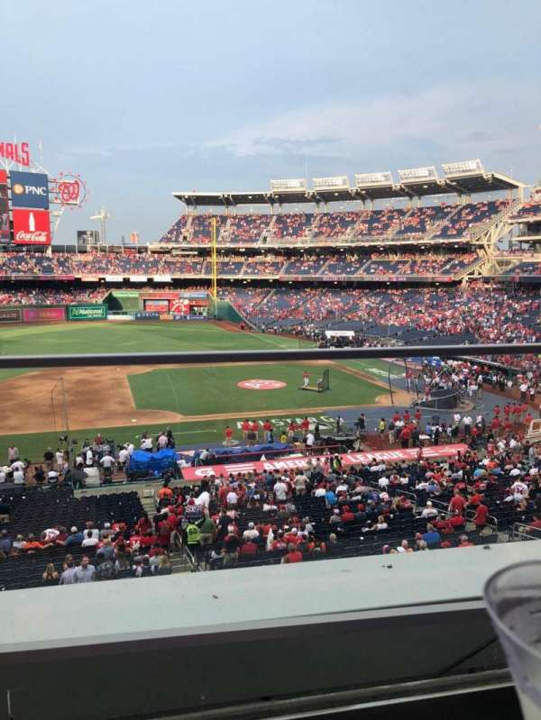 Nationals Park, secção: 208, fila: A, lugar: 19