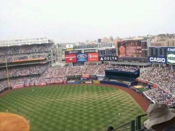 Yankee Stadium, secção: 413, fila: 8, lugar: 5