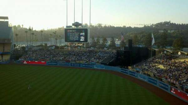 Dodger Stadium, secção: 40RS, fila: A, lugar: 1