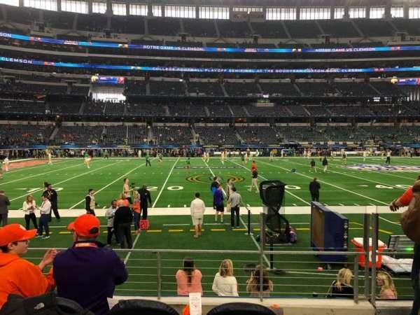 AT&T Stadium, secção: C113, fila: 4, lugar: 3
